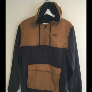 Vans Off the Wall Brown Hood Fleece PullOver sz M